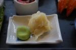 inlagd ingefära och wasabi