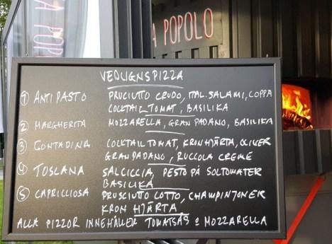 Pizza Popolo menyn