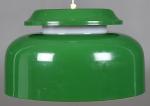 lampa - taklampa grön 2 diamterter 43cm metallskärm