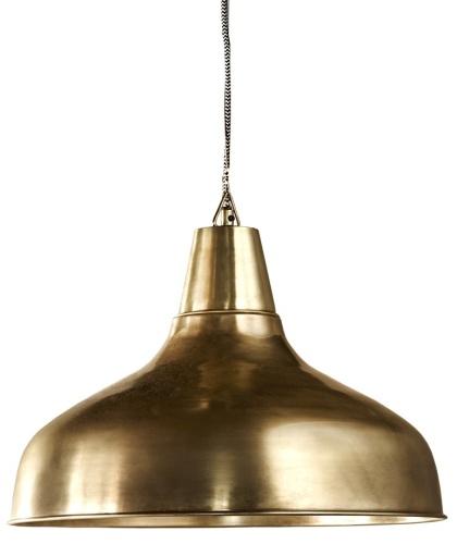 lampa - taklampa industrilampa mässing från Olsson & Jensen
